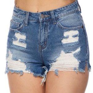 """Pants - •LAST 4 """"Kiera"""" Distressed Denim Shorts"""